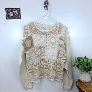 VINTAGE Casual Corner Embroidered Sweater